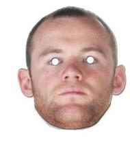 Wayne Rooney Face Mask