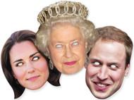 Diamond Jubilee Royal Family Face Mask Set