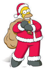 Homer Simpson Santa Claus cutout