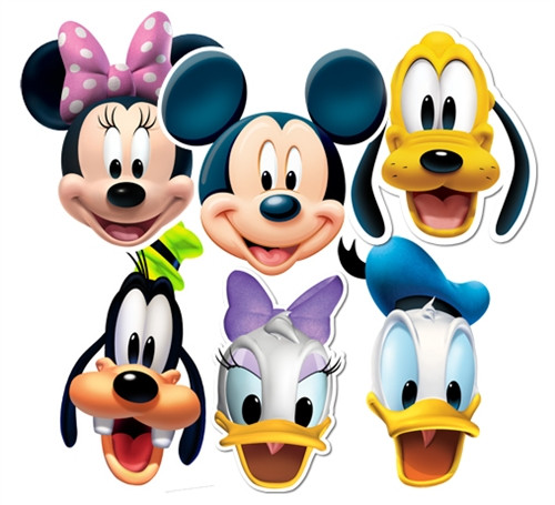 Mickey mouse and friends face masks set of 6 mickey for Decoration maison mickey