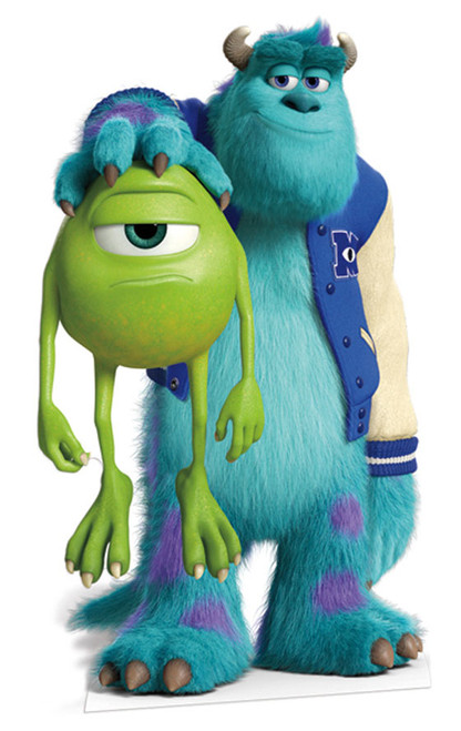 Lifesize cardboard cutout of sulley and mike from monsters sulley and mike lifesize cardboard cutout standee monsters university voltagebd Gallery