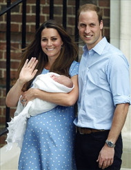 Baby Prince George, William and Kate Photo