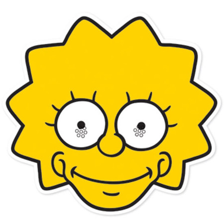 Lisa Simpson Party Face Mask (The Simpsons) available now ...