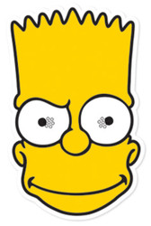 Bart Simpson Party Face Mask (The Simpsons)