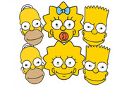 The Simpsons Party Face Masks Set Of 6 (Homer, Bart, Maggie and Lisa)