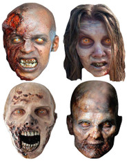 The Walking Dead Zombies Party Face Mask set of 4