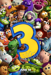 TOY STORY 3 - RARE double sided ADVANCE STYLE A Movie Poster