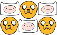 Jake and Finn Adventure Time Party Masks Pack of 6