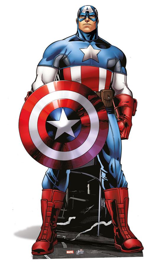 Captain America Lifesize Cardboard Cutout Standee