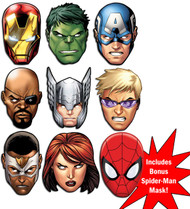 Marvel's The Avengers Ultimate Super Hero Set of 9 Variety Face Mask Pack