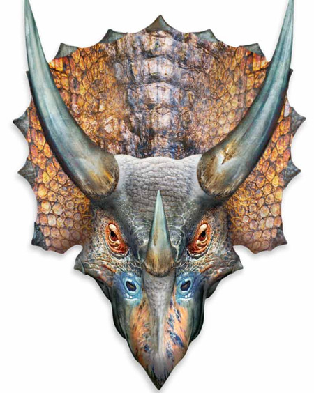Triceratops 3d Effect Pop Out Cardboard Cutout Wall Art