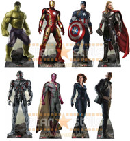 Avengers Age of Ultron Set of 8 Marvel Lifesize Cardboard Cutouts