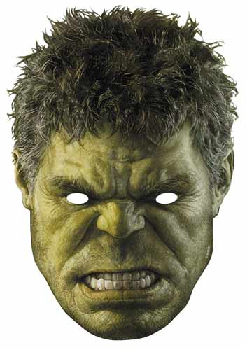 The Hulk Avengers Age Of Ultron Card Face Mask Available
