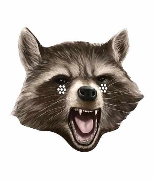 Rocket Raccoon Marvel Guardians of the Galaxy Card Face ...