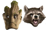 Rocket Raccoon and Groot Guardians of the Galaxy Card Mask 2 Pack
