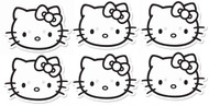 Hello Kitty Colour and Keep Party Face Mask 6 Pack