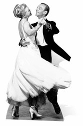 Fred Astaire and Ginger Rogers Cardboard Cutout