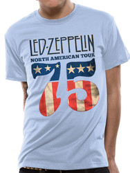 Led Zeppelin Classic US 75 Official Unisex T-Shirt