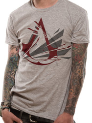 Assassin's Creed Fracutred Logo Official Grey Unisex T-Shirt
