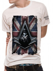 Assassin's Creed Syndicate Jacob Frye Union Jack Style Official White Unisex T-Shirt