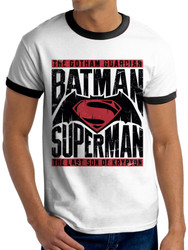 Batman v Superman Text and Logo Dawn of Justice Official Unisex T-Shirt
