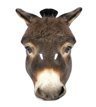 Donkey Animal Card Party Face Mask