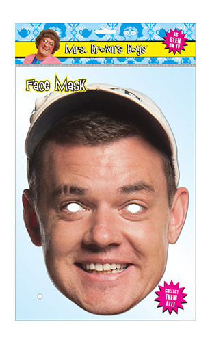 Buster Brady Official Mrs Brown's Boys Card Party Face Mask