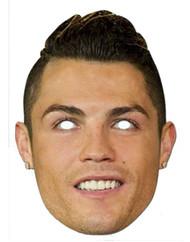 Cristiano Ronaldo Footballer Card Party Face Mask