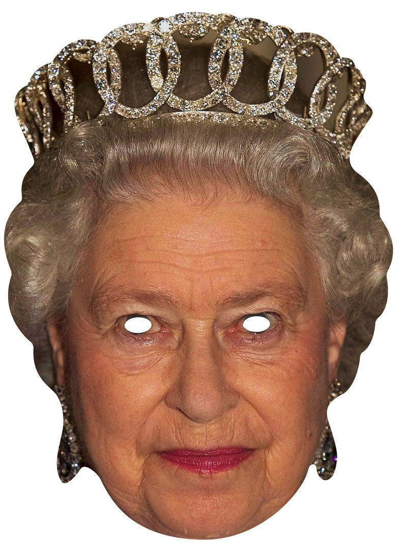 Queen Elizabeth II Royal Card Party Face Mask. In Stock ...