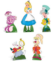 Alice In Wonderland Character Cardboard Cutouts Complete Collection (Set of 5)