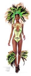 Mardi Gras Brazilian Carnival Babe Lifesize Cardboard Cutout