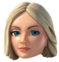 Lady Penelope Thunderbirds Are Go Single Card Mask