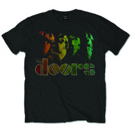The Doors Spectrum Logo Black Official Unisex T Shirt