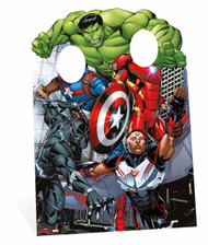 The Avengers Captain America and Iron Man Child Size Cardboard Cutout Stand-in