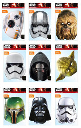 Star Wars Variety 9 Pack Card Party Masks