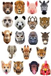 Set Of 19 Animal Party Masks