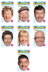 Mrs Brown's Boys Set Of 7 Card Party Face Masks