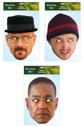 Breaking Bad Set of 3 Card Party Face Masks