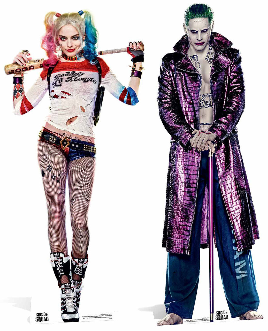 Suicide Squad Harley Quinn & The Joker Lifesize Cardboard Cutout ...