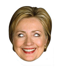 Hillary Clinton 2D Card Party Face Mask