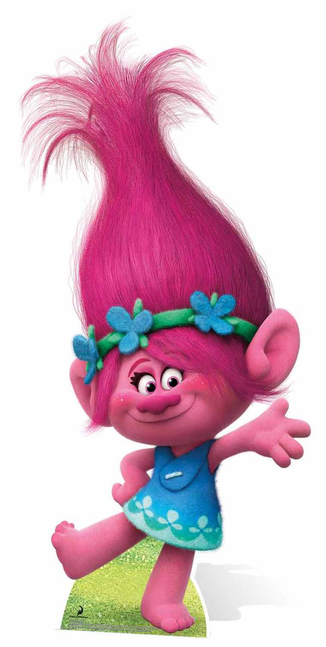 Princess Poppy From Trolls Cardboard Cutout Standee