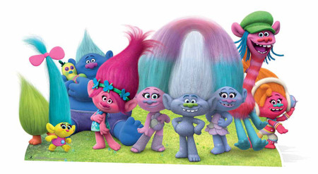 Dreamworks Trolls Group Panoramic Cardboard Cutout