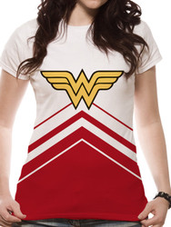 Wonder Woman Cheerleader Sublimation Fitted T-Shirt