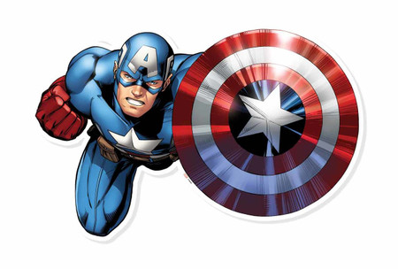 Captain America Wall Art captain america shield bash wall art 3d effect official marvel