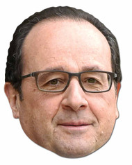 Francois Hollande French Politician 2D Face Mask