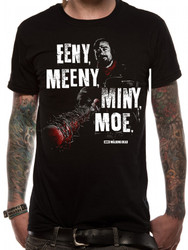 The Walking Dead Eeny Meeny Logo Official Unisex Black T-Shirt