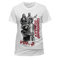 Guardians Of The Galaxy Vol. 2 Characters Unisex Official White T-Shirt