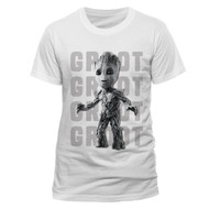 Baby Groot Guardians Of The Galaxy Vol. 2 Official Unisex White T-Shirt
