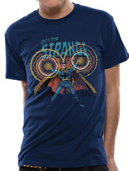 Doctor Strange Comic Style Official Marvel Blue Unisex T-Shirt