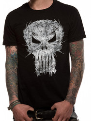 Marvel Knights The Punisher Shatter Skull Black Unisex T-Shirt